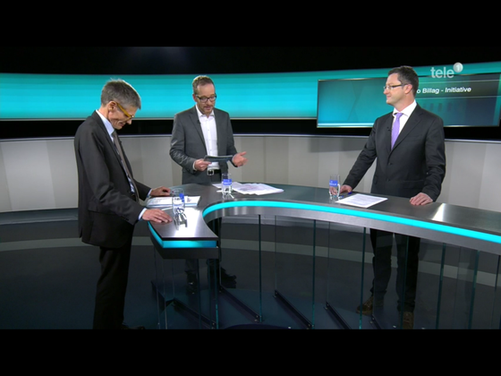 Kontrovers auf Tele1 mit NR Karl Vogler. Moderation Urs Schlatter. Dezember 2017