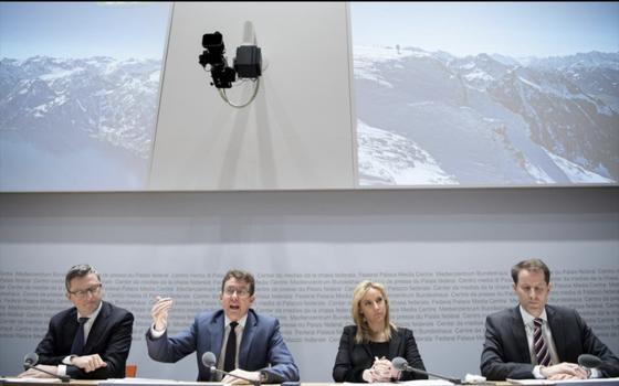 Medienkonferenz zum neuen Parteiprogramm im Medienzentrum in Bern