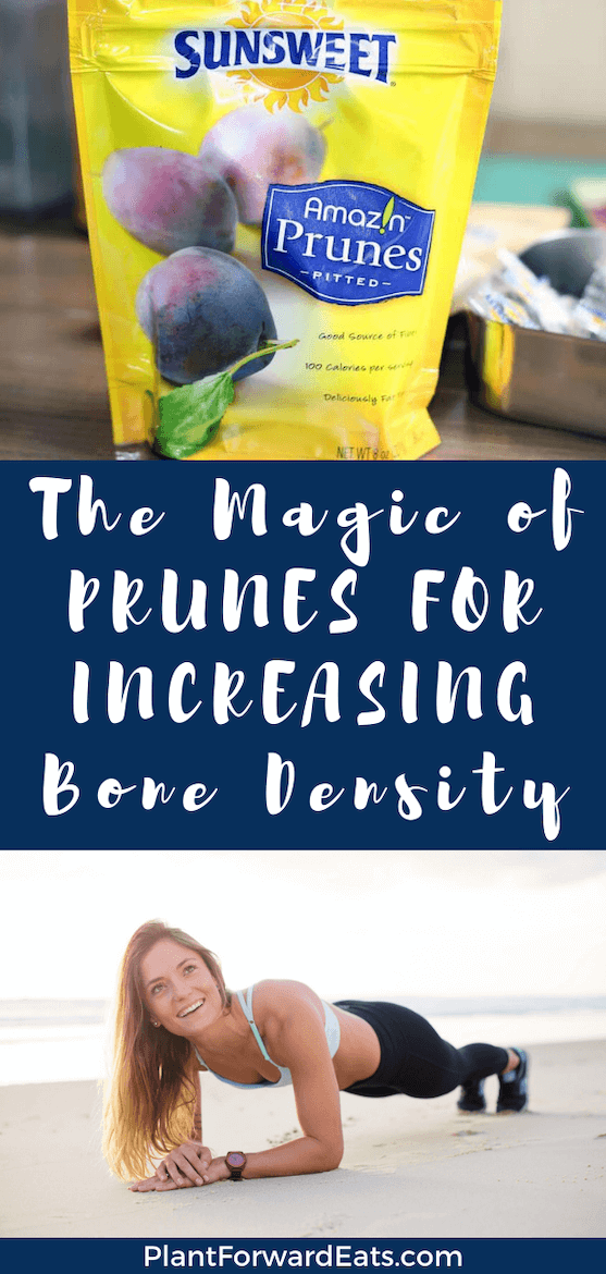 What are the best foods for osteoporosis prevention? This World Osteoporosis Day, give your bone health a boost with foods (including prunes--yup, that's right!), exercise, and other tips. #bonehealth #SunsweetStrong #osteoporosisdiet #antiagingfoods