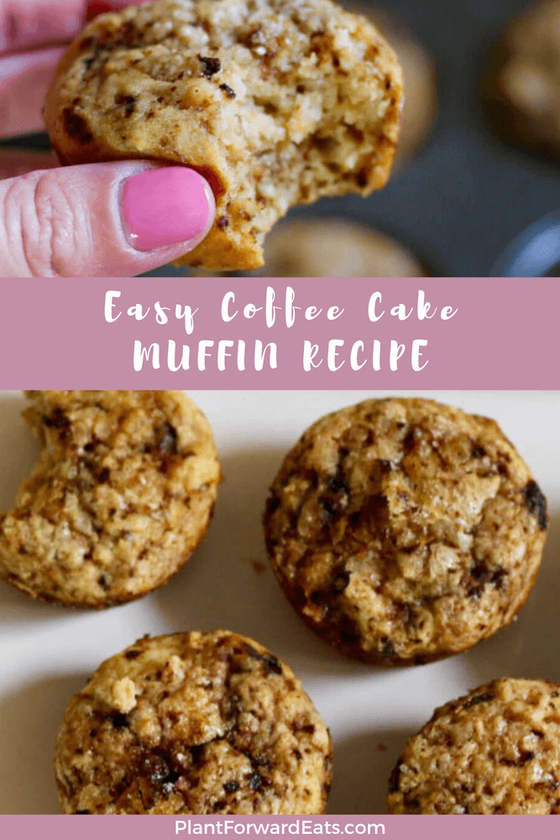 Hello, healthy coffee cake muffins! Great for mornings, these healthy coffee muffins are made with Greek yogurt and give a boost of caffeine.