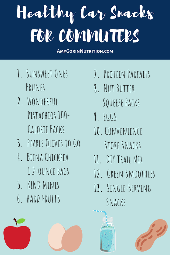 These car snacks are great for road trips and travel for kids and for adults. Add these easy healthy snacks to your commute so that you have weight loss snacks at the ready. #snack #roadtripsnack #healthysnack #carfood #commuter #roadtrip #weightloss