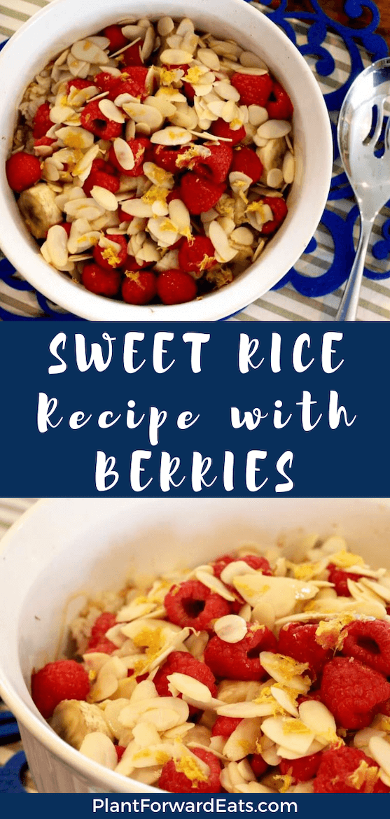 Almond Raspberry Banana Baked Rice