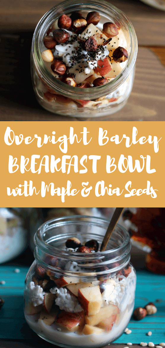 The only thing better than overnight oatmeal is an overnight barley breakfast bowl. Elevate your dish with maple syrup and chia seeds for the ultimate brunch menu idea. #sponsored @maplefromcanada #amyseatlist #breakfastbowl #brunchgoals #barley