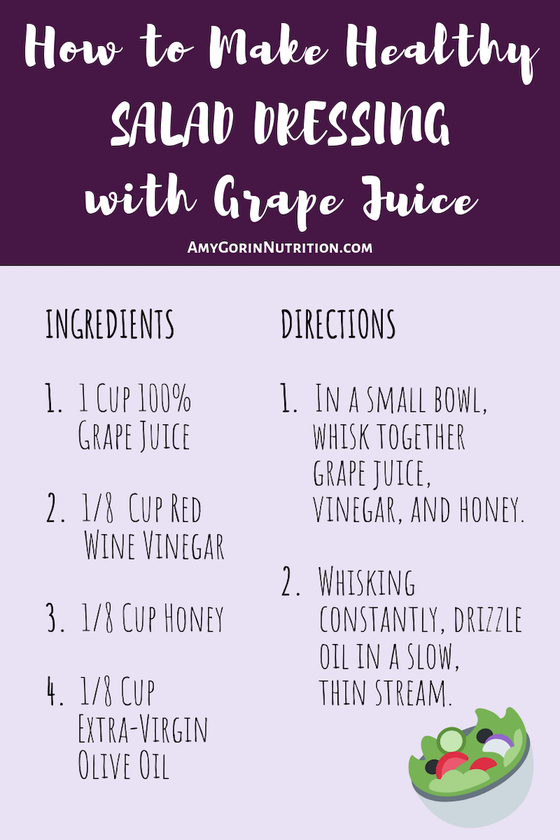 Here's a homemade and healthy salad dressing DIY recipe to try! This Grape Vinaigrette Salad Dressing is so easy to whip up!Here's how to make healthy salad dressing. Make this homemade and healthy salad dressing DIY recipe to try! This Grape Vinaigrette