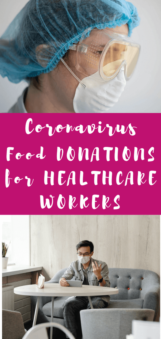 Want to make a food donation for frontline healthcare workers to show healthcare worker appreciation? Or are you a doctor, nurse, registered dietitian, or other healthcare worker who'd appreciate a thank you? #healthcareworker #fooddonation #donation