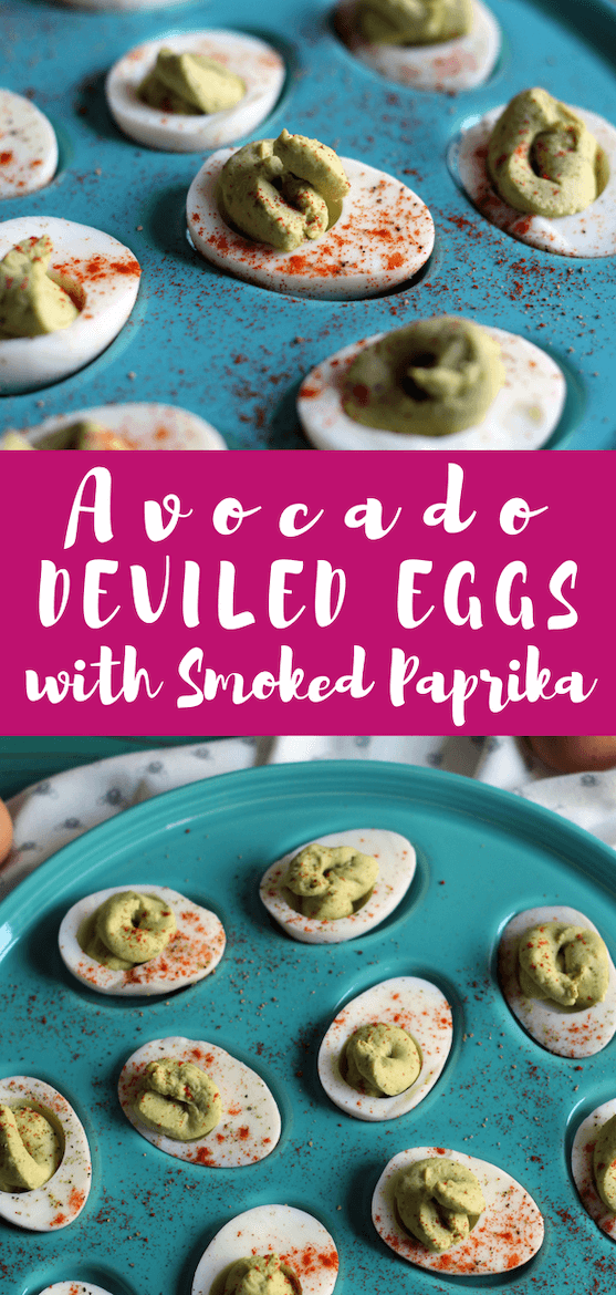 These Avocado Deviled Eggs with Smoked Paprika are super nutritious. Make them as a snack or an appetizer! @IncredibleEggs #ad #HowDoYouLikeYourEggs #eggs #recipe #eggrecipe #deviledeggs #appetizer