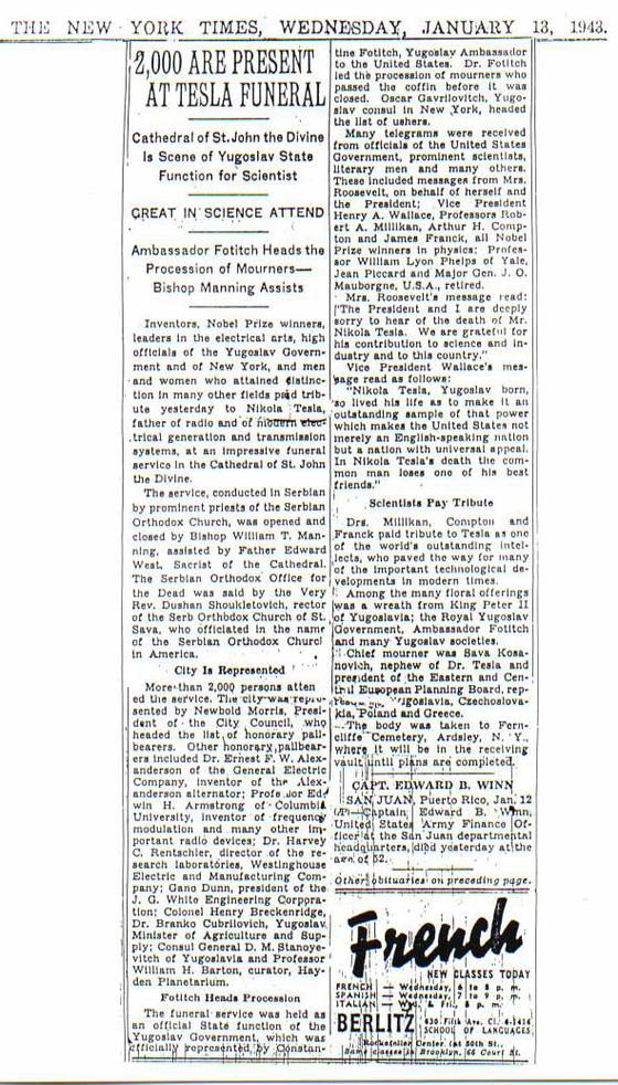 The New York Times 13 Gennaio 1943