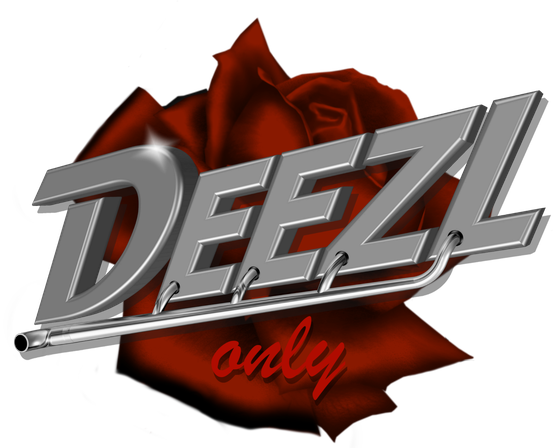 DEEZL tattoo red rose with logo