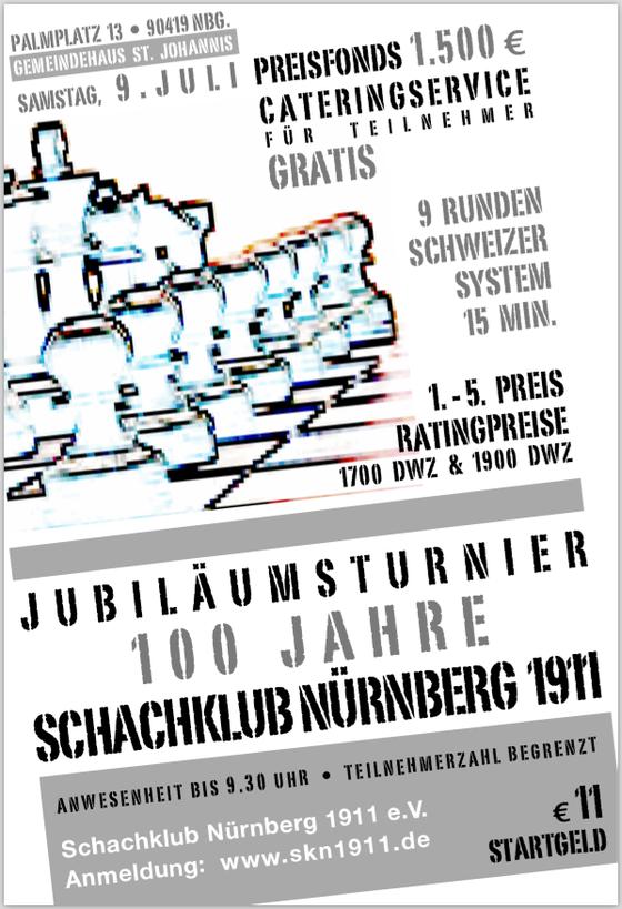 Anzeige Jubiläumsturnier im Schachmagazin Rochade Europa