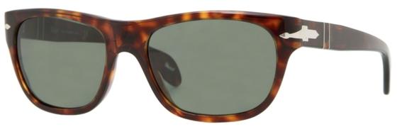 Occhiali da sole donna Persol Modello: 2944-S. Colore: 24/31 tartarugato. Colore lenti: verde. Calibro 53-17. Forma: Squadrato. Materiale: plastica. Protezione UV 100%