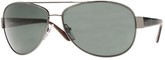 Occhiali da sole uomo Persol Modello: 2288-S. Colore: 513/31 canna di fucile. Colore lenti: verde. Calibro 60-13. Forma: Pilot. Materiale: metallo. Protezione UV 100%