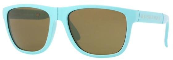 Occhiali da sole uomo Burberry Modello: 4106 pieghevole Colore: 327173 celeste. Colore lenti: marrone. Calibro 56-17. Materiale: plastica. Protezione UV 100%