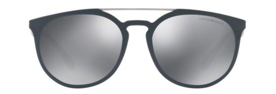 Occhiali da sole uomo Emporio Armani Modello: 4103 Colore: 55966G blu. Colore lenti: grigio chiaro specchiato nero. Calibro 56-18. Materiale: plastica. Protezione UV 100%