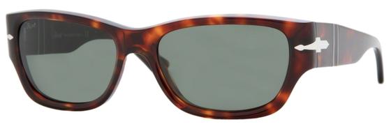 Occhiali da sole uomo Persol Modello: 2924-S. Colore: 24/31 tartarugato. Colore lenti: verde. Calibro 55-17. Forma: Squadrato. Materiale: plastica. Protezione UV 100%