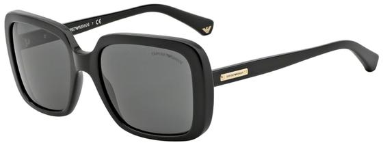 Occhiali da sole donna Emporio Armani Modello: 4007. Colore: 501787 nero. Colore lenti: grigio. Calibro 54-19. Materiale: plastica. Protezione UV 100%