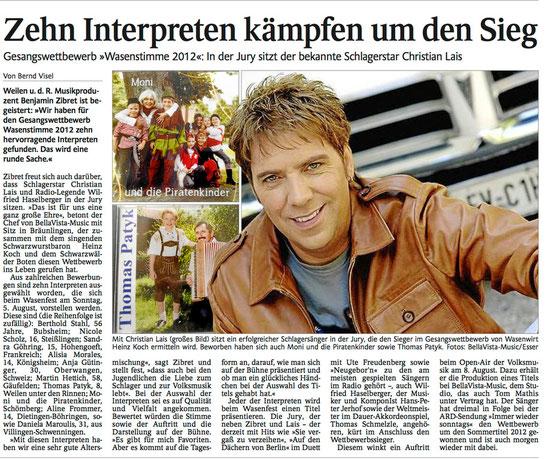 Schwarzwälder Bote 21.7.2012