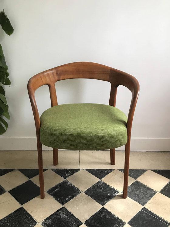 fauteuil vintage, fauteuil danois en teck