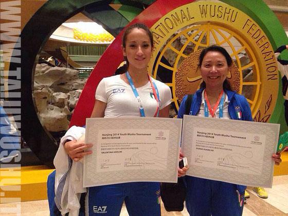 Nella foto: Valentina Ugolini e M* Xu Guan Guan alle Olimpiadi Giovanili - Nanjing 2014
