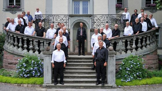Auftritt Männerchöre Frick + Boppelsen im Schlosspark in Bad Säckingen