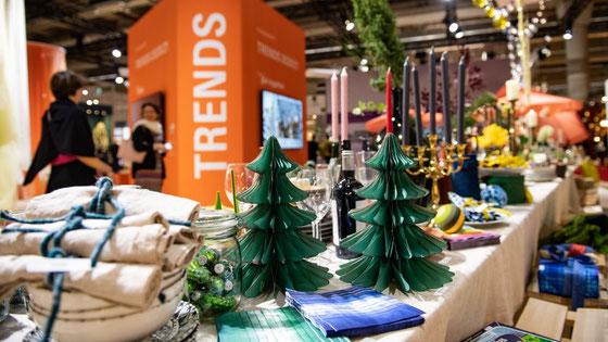 Eingedeckter Tisch bei der größten Weihnachtsmesse Deutschlands - der Christmasworld in Frankfurt