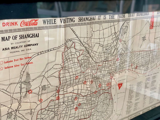 1938 Y.M.C.A. visitors map of Shanghai