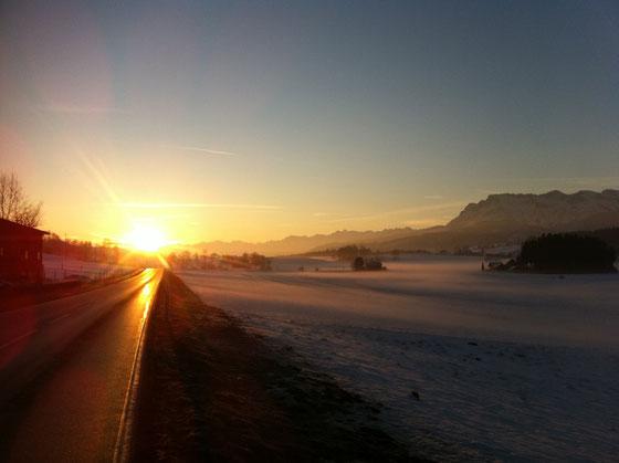 Samstagmorgen auf dem Weg nach Ruswil