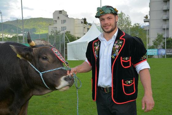 Sieger Martin Zimmermann mit Muni Beno