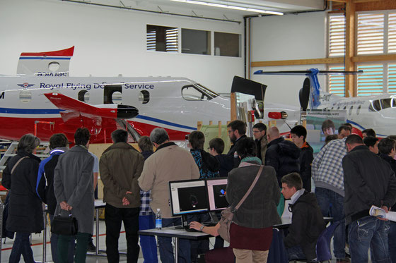 Info-Veranstaltung der Pilatus Flugzeugwerke