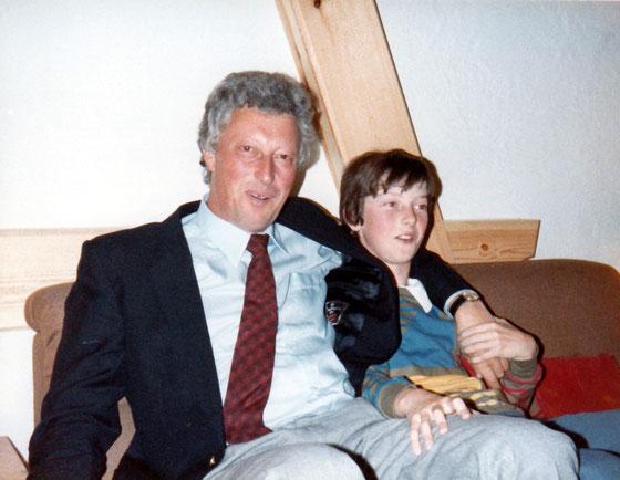 Vater Keller mit seinem Jüngsten Peter