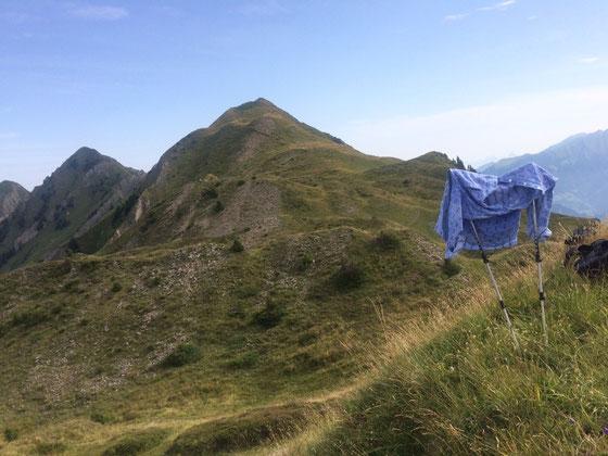 Vom Storeggpass in Richtung Charre, Laucheren-Alp und Kernalp