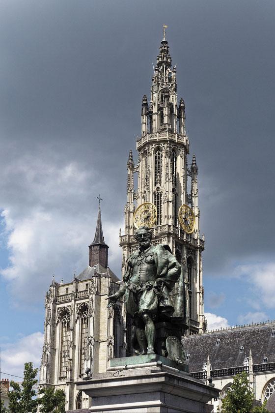 Antwerpen - Antwerp - Anvers - Peter Paul Rubens Denkmal auf dem Groenplaats