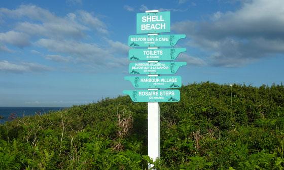 Wanderwege auf der Insel Herm