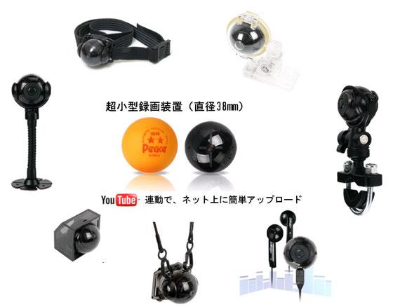超小型録画機 CamBall 2.0