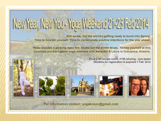 Hotel Gracanica, Pristina / Pristina: Yoga Weekend announcement