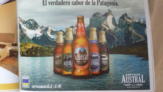 Plakat mit verschiedenen Biersorten