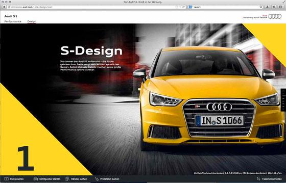 Groß in der Wirkung: Audi S1 microsite