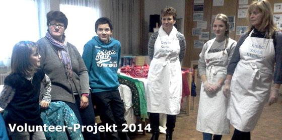 Freiwilligenarbeit in St. Joseph (Hier das 3. Team von Volunteer2014 im Januar)