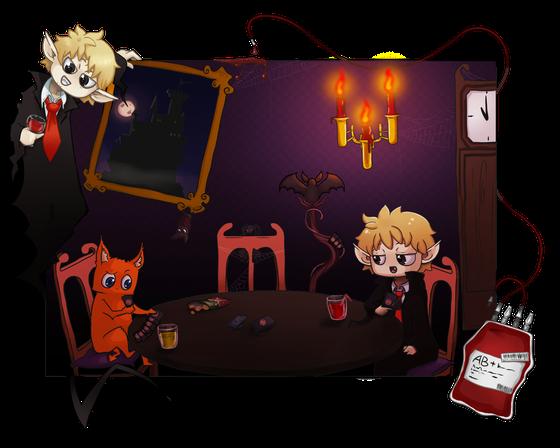 Mombert, der Vampir mit den Kartentricks (gemalt von: Christine Ohms)