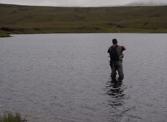 Casting off in the hill lochs.