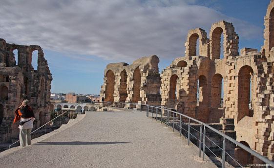 Coliseo romano de El Jem. Túnez