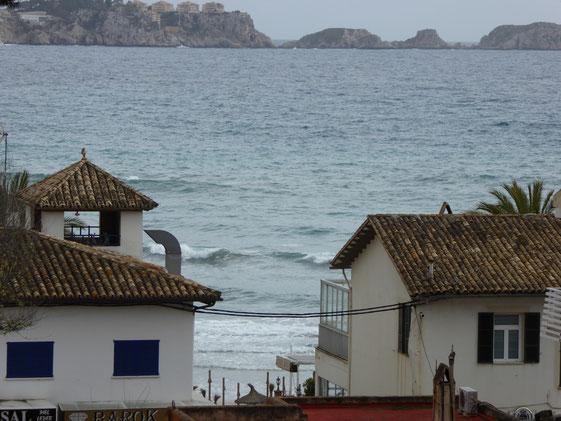 Uitzicht vanaf pension Paguera