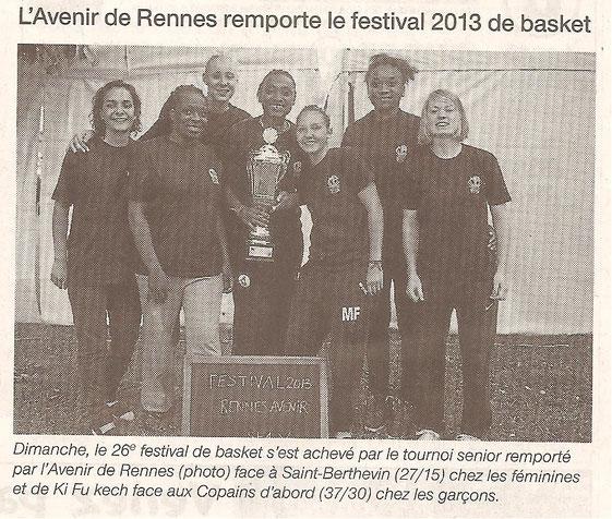 Ouest France le 19 juin 2013