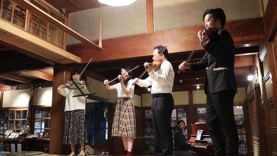 淡河宿本陣跡でクラシックのセッションが始まります!