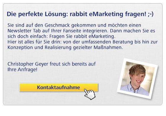 E-Mail Marketing Services anfragen - Newsletter Abonnenten über die Facebook Fanseite gewinnen
