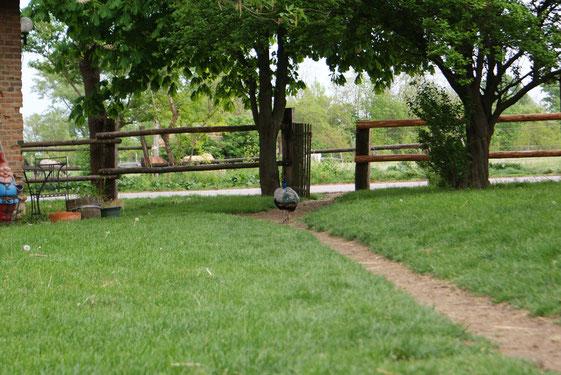 Ferienwohnung Ausblick auf den Reitstall und Bauernhof ALthof im Burgenland
