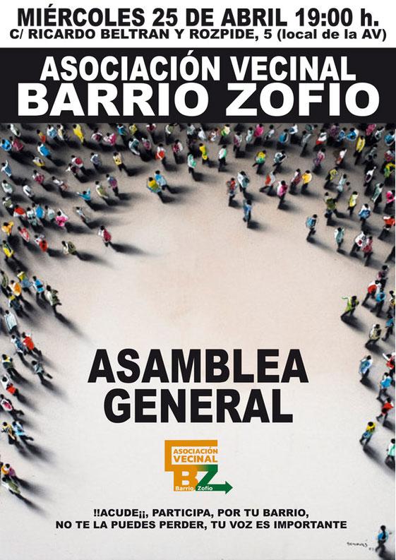 Asamblea General AV Barrio Zofío 25 de abril de 2018