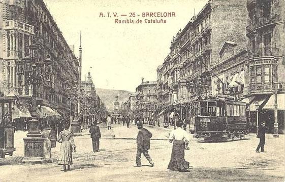 visuel. photo ancienne de Barcelone