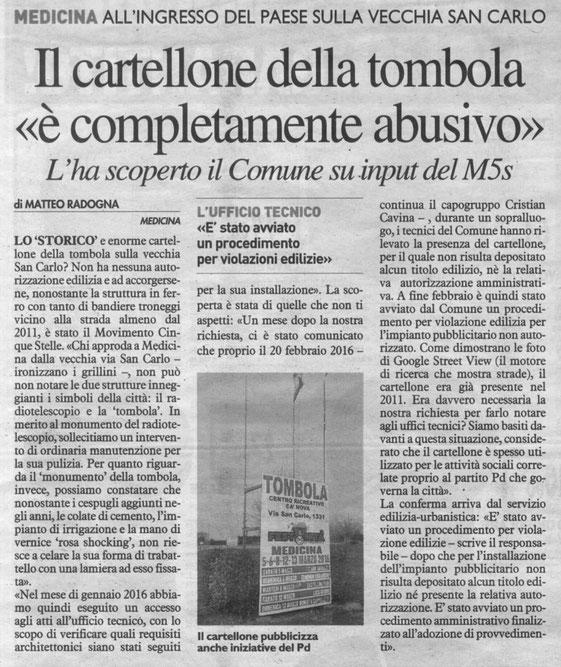 Il Resto del Carlino (11/03/2016)