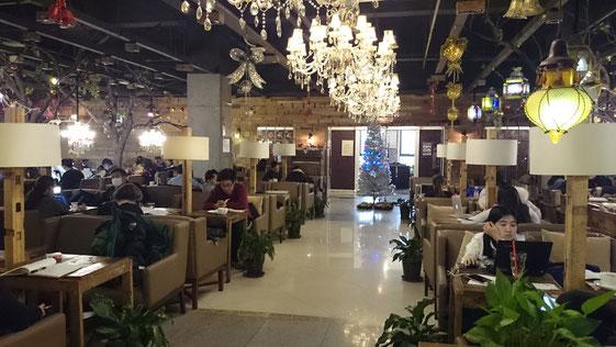 中国 留学 中国語 北京語言大学 シニア留学 夏期講座 キャンパス 一心 学生食堂 喫茶店ハニー