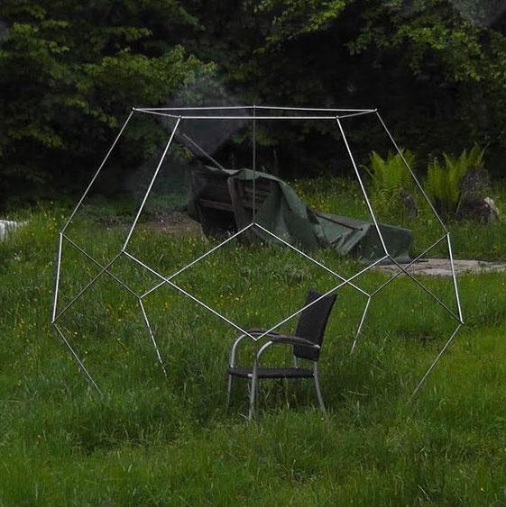 Dodekaeder im Garten als Wellnessoase, Meditationshilfe - Stille und Ruhe finden